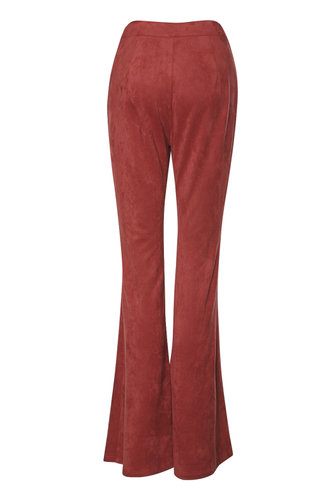 back_Groovy Burgundy Suede Pants