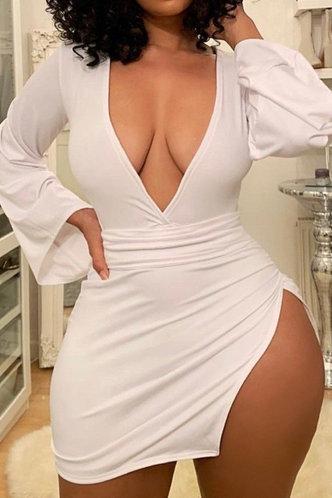 back_Corrie Eve White Split Thigh Bodycon Dress