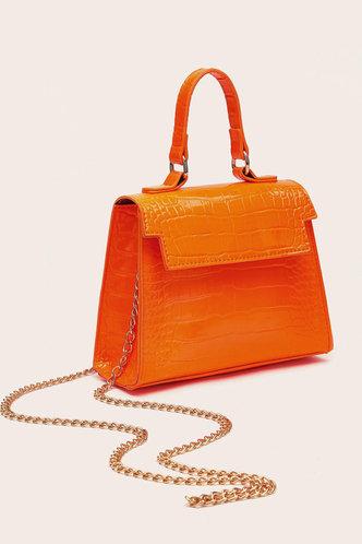 front_Elma Laget Orange Satchel Bag