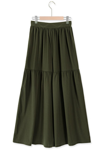 back_Nomad Army Green Wide Leg Pants