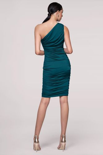 back_Evening Stars Teal Green Mini Dress