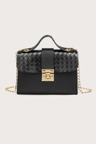 front_Andrea Erica Black Satchel Bag