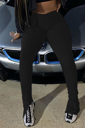 front_Madeline Eartha Black Leggings