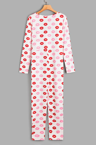 back_Beverly Eileen White And Red  Sleepwear