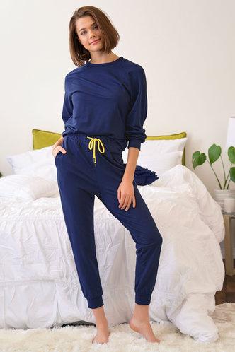 front_Carry On Navy Blue PJ Set