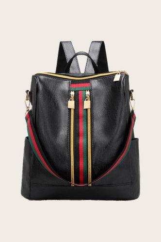 front_Prudence Eudora Black Bagpack