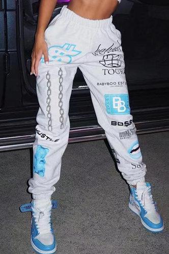 front_Cecelia Eunice White Sweatpants