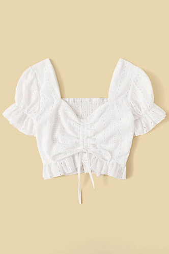 back_Clementina White Crop Top