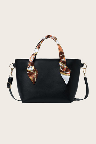front_Mallory Enid Black Tote Bag