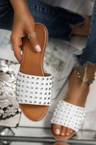 back_Arabel Erica White Eyelet Decor Slide Sandals