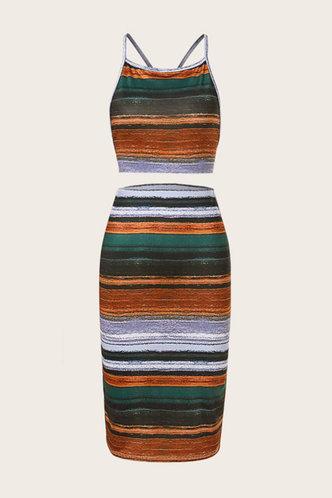 back_Charlotte Kamino Striped Set