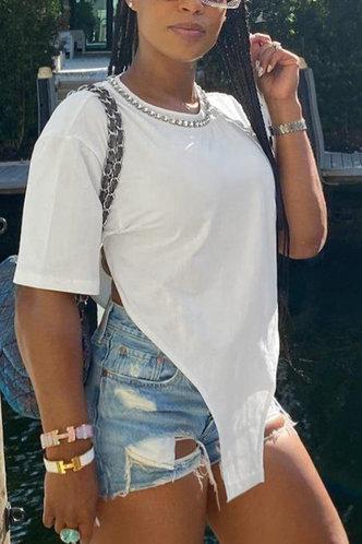 back_Loraine Evangeline White Plus Tee