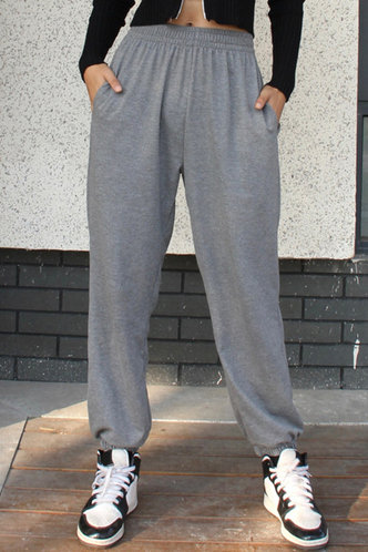 front_Be Easy Grey Sweatpants