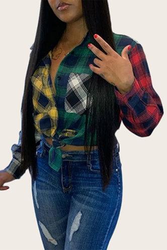 back_Hyacinth Elvira Plaid Blouse
