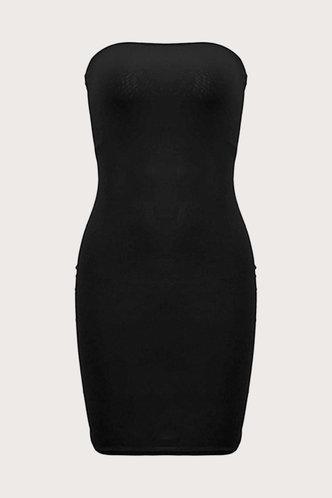 back_Off the Shoulder Black Dresses
