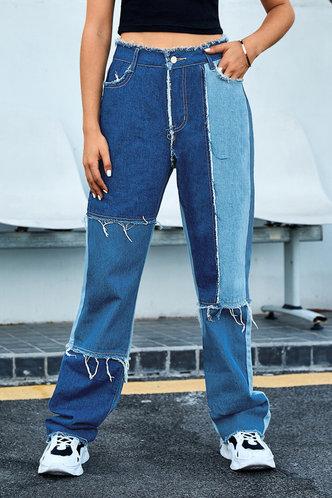 front_Regina Eartha Colorblock Straight Leg Jeans