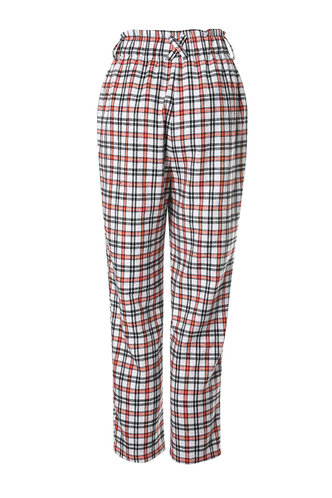 back_The Right Track Multicolor Plaid Plaid Peg Pants