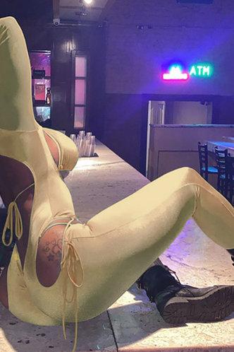 front_Gretchen Ella Khaki Jumpsuit