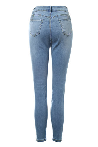 back_Quarter Past Five Light Wash Skinny Jeans