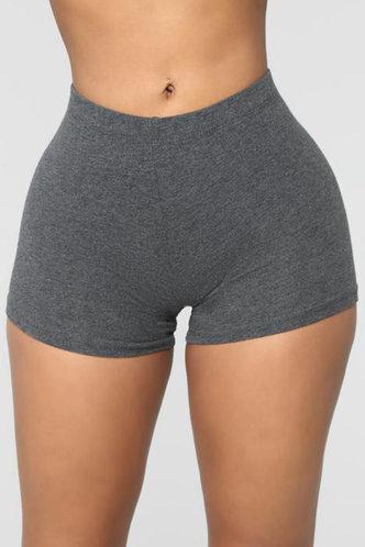 front_Eleanor Elva Dark Grey Shorts