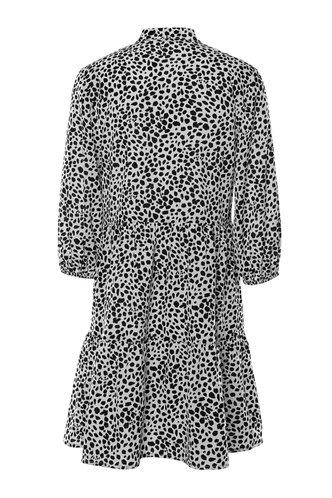 back_Fresh Squeezed Black And White Dalmatian Print Three-Quater Sleeve Dress