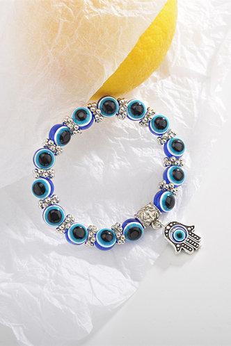 back_Sheila Elvira Blue Beaded Bracelet