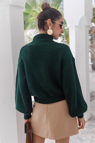 back_Novia Dark Green Sweaters