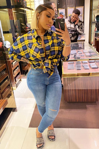 back_Mid Waist Plain Wash Light Blue Women Jeans