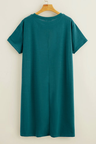 back_Eunice Navy Blue T-shirt Dress