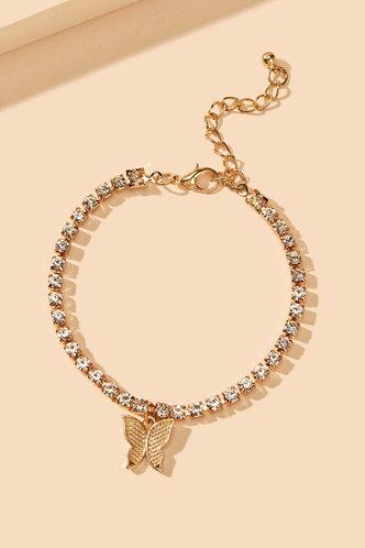 back_Mamie Elaine Gold Butterfly Charm Bracelet