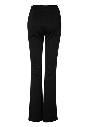 back_Girl's Got Flare Black Flare Hem Pants