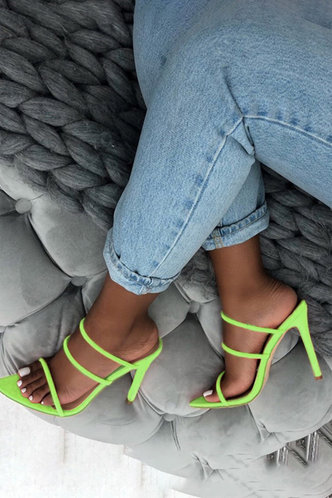 front_Celestine Emily Lime Green Heeled Sandals